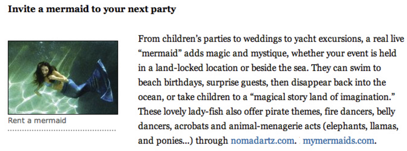 rent a mermaid